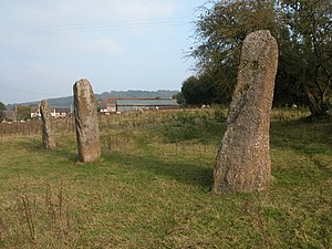 Trellech - Harold's Stones, looking north east