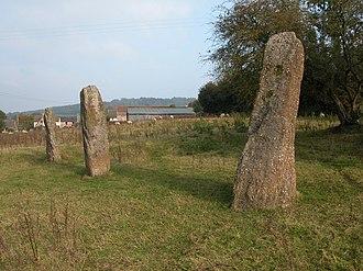 Trellech - Harold's Stones, looking north east