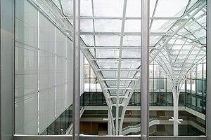 interior of charles m harper center at univers...