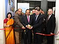 Harsh Vardhan and the Minister of Science, Technology and Space, Israel Mr. Ofir Akunis jointly inaugurating an exhibition during their visit to the National Council of Science Museums, in New Delhi.jpg