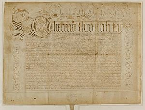 Thomas Dudley - Charter authorizing Harvard College, signed by Governor Thomas Dudley, 30 May 1650