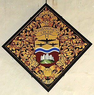 390th Strategic Missile Wing - Hatchment commemorating the 390th inside the Church of St Michael the Archangel, Framlingham, Suffolk, England. The 390th was stationed at the Parham Airfield in nearby Parham.