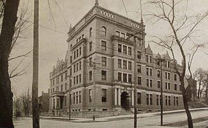 Washington & Jefferson College - Hays Hall, named after George P. Hays, was built in 1903 and demolished in 1994.