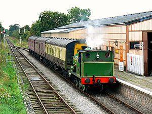 Swindon and Cricklade Railway - Image: Hayes Knoll railway station by Brian Robert Marshall