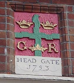 Photo of Head Gate, Colchester multicoloured plaque