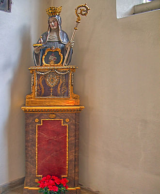 Walpurgis Night - The relics of Saint Walpurga are housed at Saint Peter's Church in Munich, where they are venerated, especially on February 25 (Saint Walpurga's death date) and May 1 (Saint Walpurga's canonization date), both of which are observed as the Feast of Saint Walpurga, depending on locality.