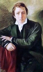Heinrich Heine by Moritz (Daniel) Oppenheim.