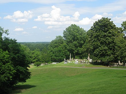 The view from the Helena, Arkansas Confederate Cemetery of the area of the Battle of Helena HelenaConfederateCemetary.jpg