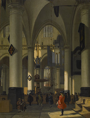 Hendrick van Streeck - View of the Old church in Amsterdam, Walters Art Museum
