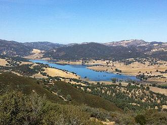 San Benito River - The San Benito River valley and Hernandez Reservoir