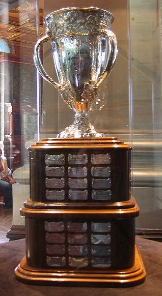 Pavel Bure - The Calder Memorial Trophy that Bure won in his rookie season