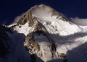 Vue du Gasherbrum I en septembre 2001.