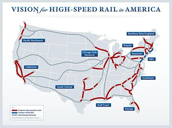 Highspeed Rail In The United States Wikipedia - Us supertrain map