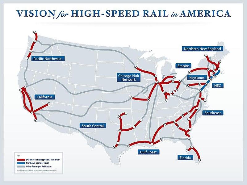 My fantasy US High Speed Rail Network imaginarymaps