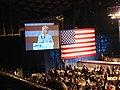 Hillary Clinton speaking at the North Carolina 2008 Jefferson-Jackson Dinner (2470760488).jpg