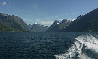 Hjørundfjorden - View of the Sunnmørsalpene from the Hjørundfjorden