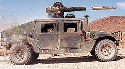 Tir d'un Tow depuis un Hummer