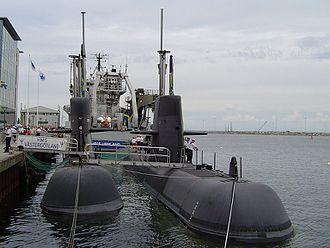 Västergötland-class submarine - Image: Hmsupplandvästergötl and