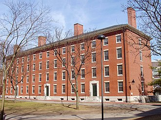 Holworthy Hall - A view of Holworthy from Harvard Yard