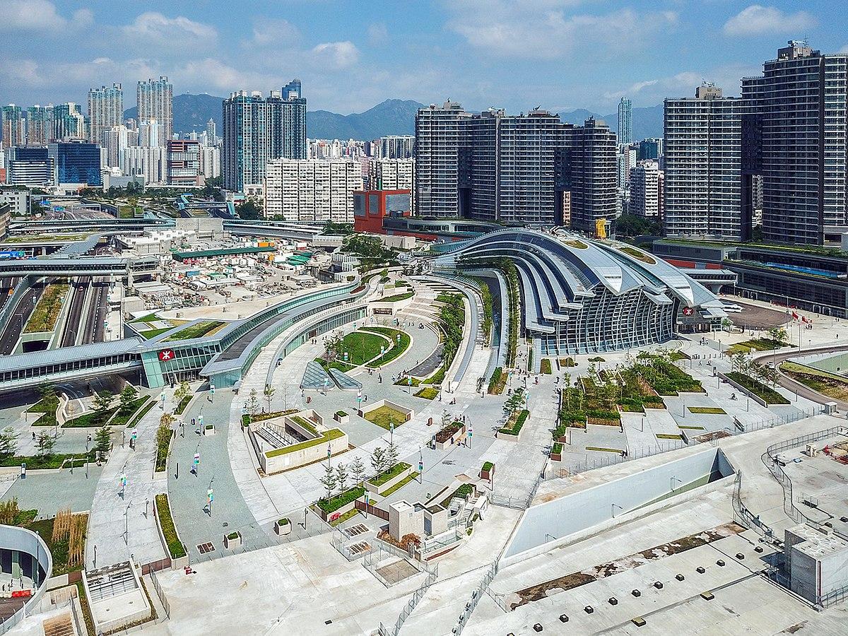 Hong Kong West Kowloon Station view 201810.jpg