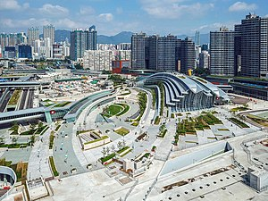 Hong Kong West Kowloon Station view 201810.jpg