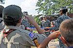 Honoring a symbol, Team Seymour holds flag retiring ceremony 140614-F-OB680-041.jpg