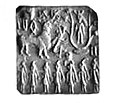 Horned deities on an Indus Valley seal.jpg