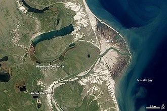 Franklin Bay - Franklin Bay and the Horton River delta