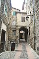 House with gate in Castel Vittorio, Imperia, Liguria Region, Italy.jpg