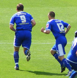 Matty Fryatt - Steve Howard and Matty Fryatt playing for Leicester City on 13 September 2008.