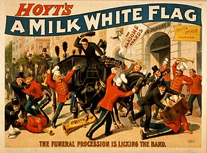 Charles Hale Hoyt - Poster for A Milk White Flag (ca. 1880s)