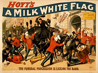 Charles Hale Hoyt - Poster for A Milk White Flag (ca. 1880s)