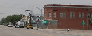 Hugo, Colorado - Downtown Hugo, looking northwest along U.S. Highway 40.