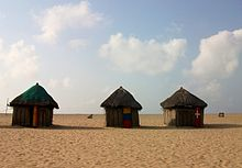 Huts on a beach, Ada.JPG