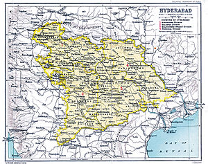Indian annexation of Hyderabad - Image: Hyderabad state from the Imperial Gazetteer of India, 1909