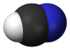 Spacefill model of hydrogen cyanide