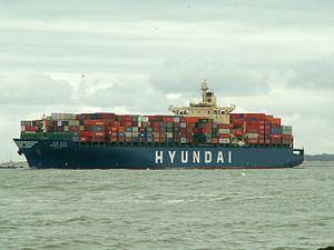 Hyundai General IMO 9112284, leaving Port of Rotterdam, Holland 08-Apr-2006.jpg