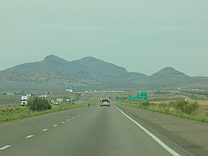 Pyramid Mountains - Image: I 10 New Mexico 5