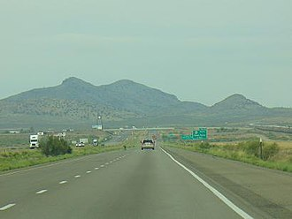 Interstate 10 - View of Lordsburg from US 70 and the junction with I-10 in New Mexico