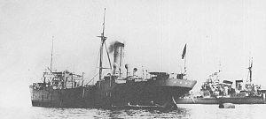 Notoro-class oiler - Image: IJN oiler SHIRETOKO and heavy cruiser CHOKAI in 1933