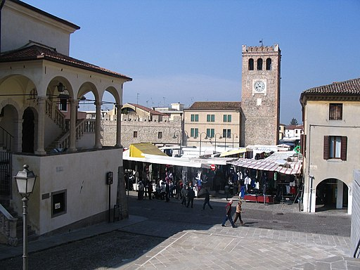 IMG 1763 Monselice - Place Mazzini - Torre Civica