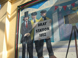 Bray Daly railway station - Mural in Bray Daly Station