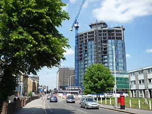 Newgate Tower - Under construction in 2010