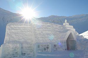 Ice hotel - Ice Church in Romania, 2011