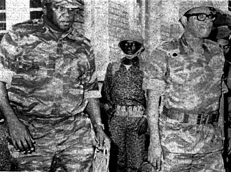 Idi Amin - Idi Amin visits the Zairian dictator Mobutu during the Shaba I conflict in 1977