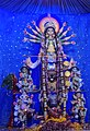 Idol of Goddess Durga being worshipped in a Panadal at Kolkata 02.jpg