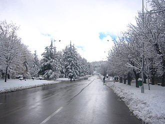 Ifrane - Snowy Ifrane, in Morocco