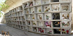 Loculus (architecture) - Concrete loculi at Igualada Cemetery.