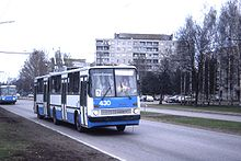 Ikarus Trolleybus, Tallinn, Estonia May 1996.jpg