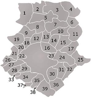 Ilfov County - Ilfov communes